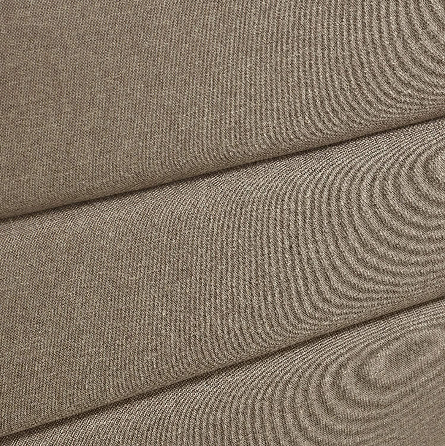 Soft Linen-Textured Fabric Queen Brown Serta Palisades Collection Upholstered Padded Headboard Modern Tufted Design