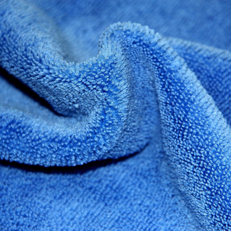 Polyte Bleu//Vert//Jaune 36 Chiffons de Nettoyage en Microfibres 41 x 41 cm