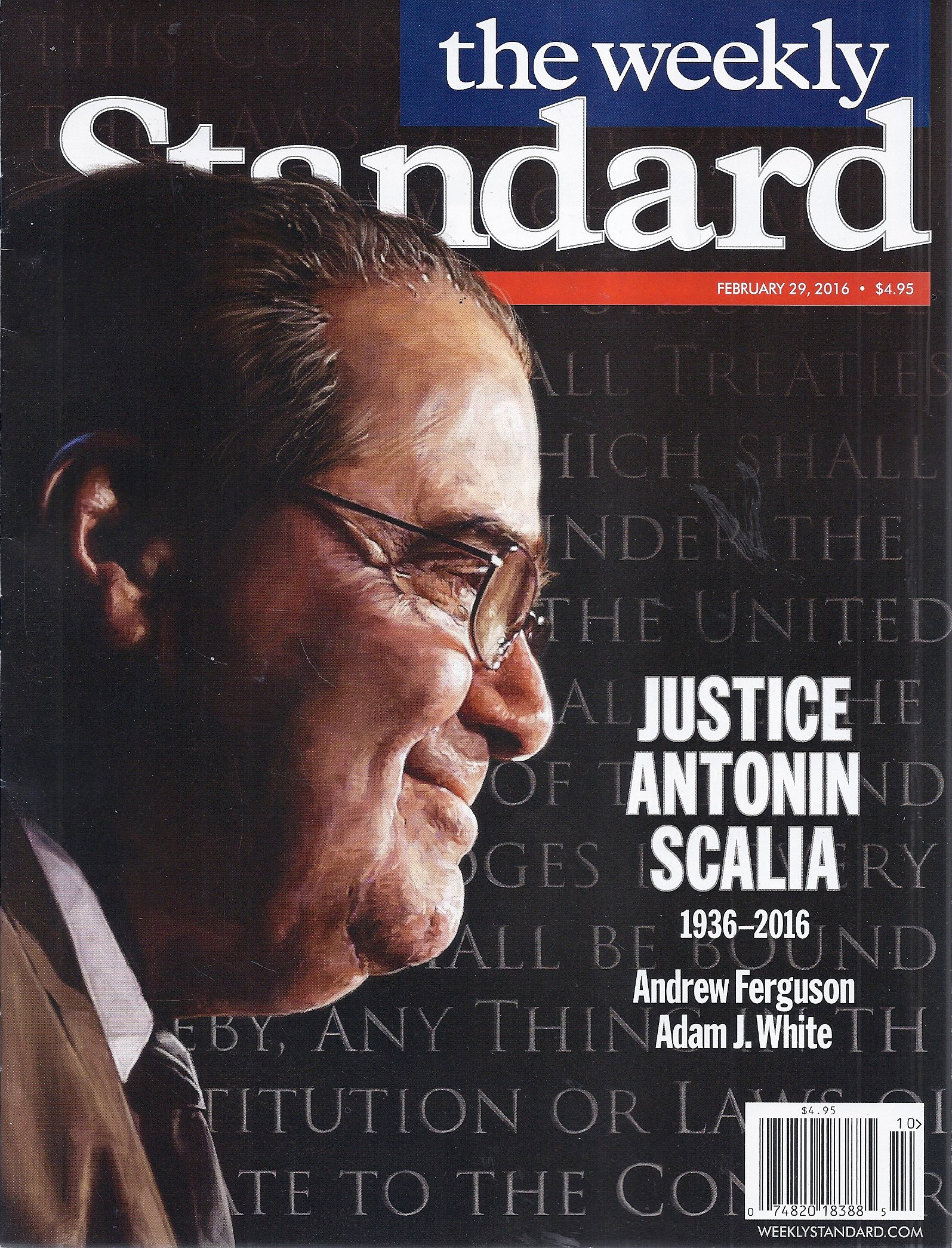 Download The Weekly Standard (February 29, 2016 - Cover: Justice Antonin Scalia) PDF