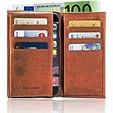 "geek iPhone Wallet Case, Hülle aus Leder für Apple iPhone 6 / 7 / 8 (4.7""), cognac"