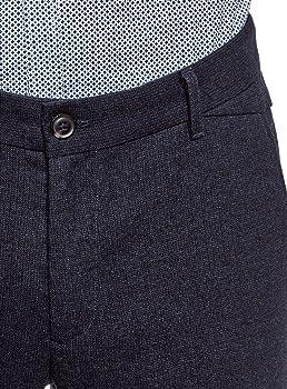 oodji Ultra Hombre Pantalones Ajustados con Elemento Decorativo