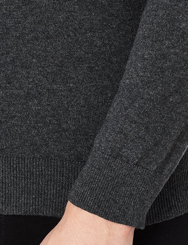 MERAKI Mens Lightweight Cotton V-Neck Cardigan