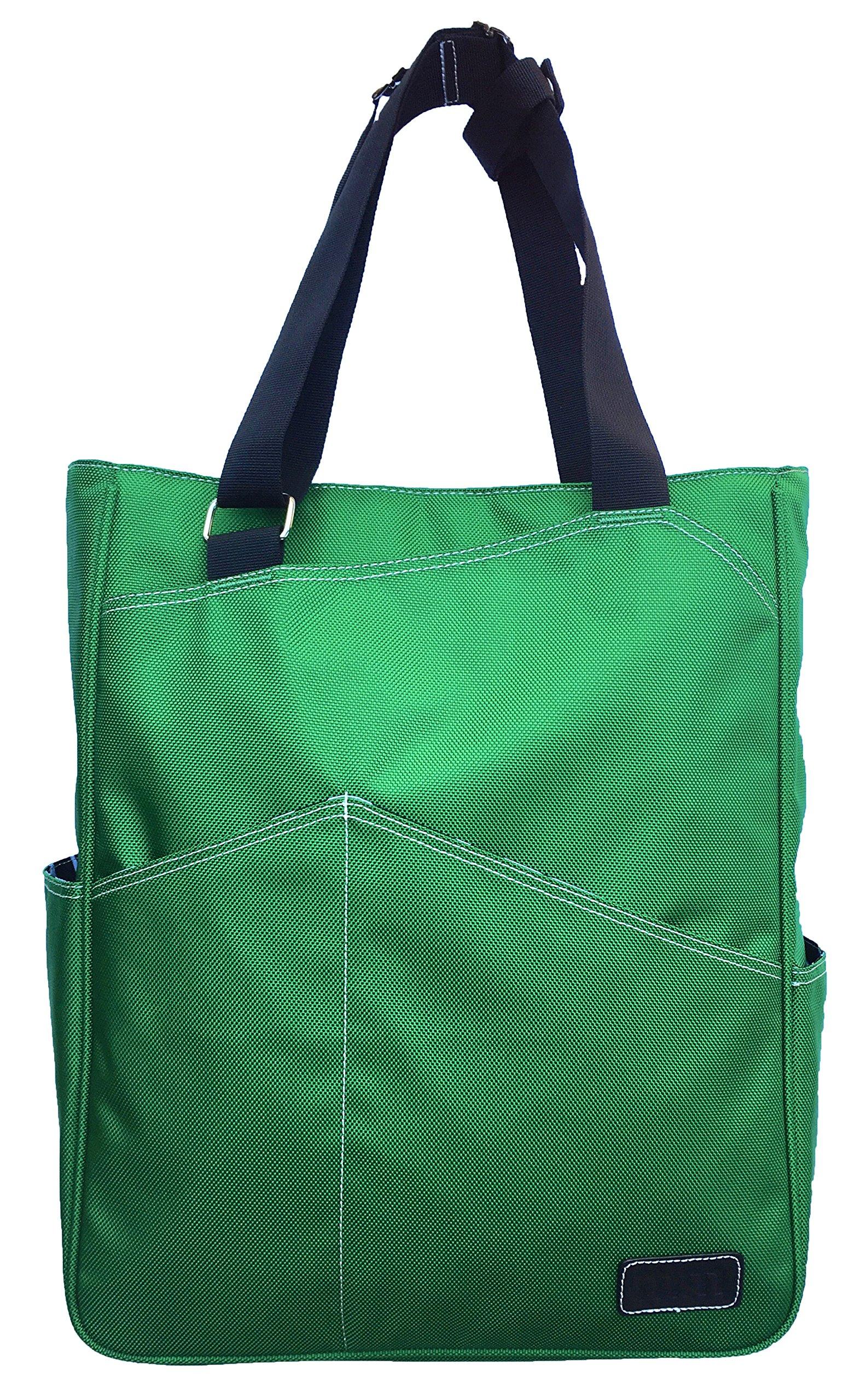 Maggie Mather Tennis Tote, Travel Tote (Emerald) New Zipper Closure