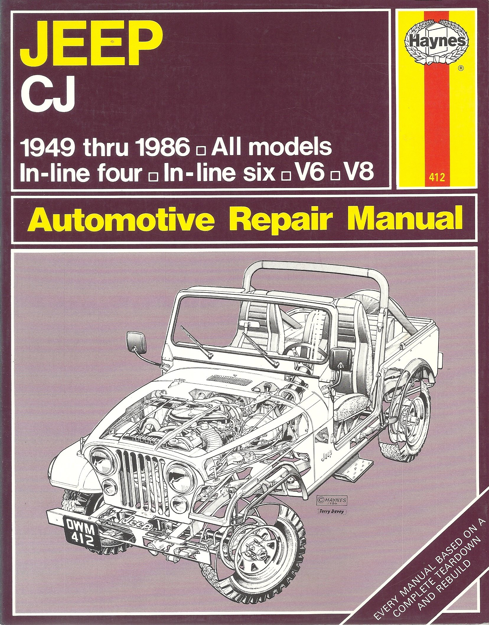 jeep cj automotive repair manual 1949 1986 larry warrens john rh amazon com 1986 Jeep Wrangler Jeep CJ7 Original Colors