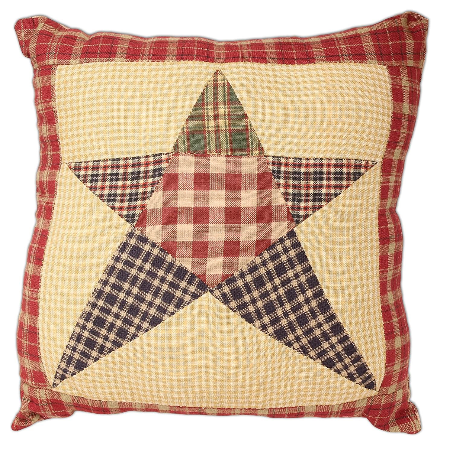 "10"" Rebecca's Patchwork Star Pillow"