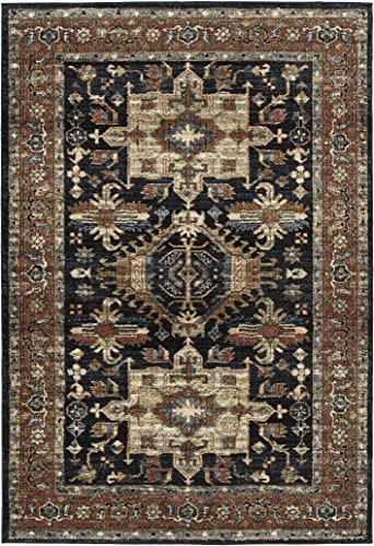 Kaleen 7 10 x 10 0 Area Rug in Navy, McAlester Collection