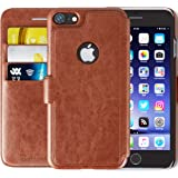 iPhone 7 / 8 Wallet Case with Card Holder   Leather Cases for Men / Women   Bonus HD Screen Protector   RFID Protection   Vintage Brown   (4.7 Inch)   Improved Version for 2018