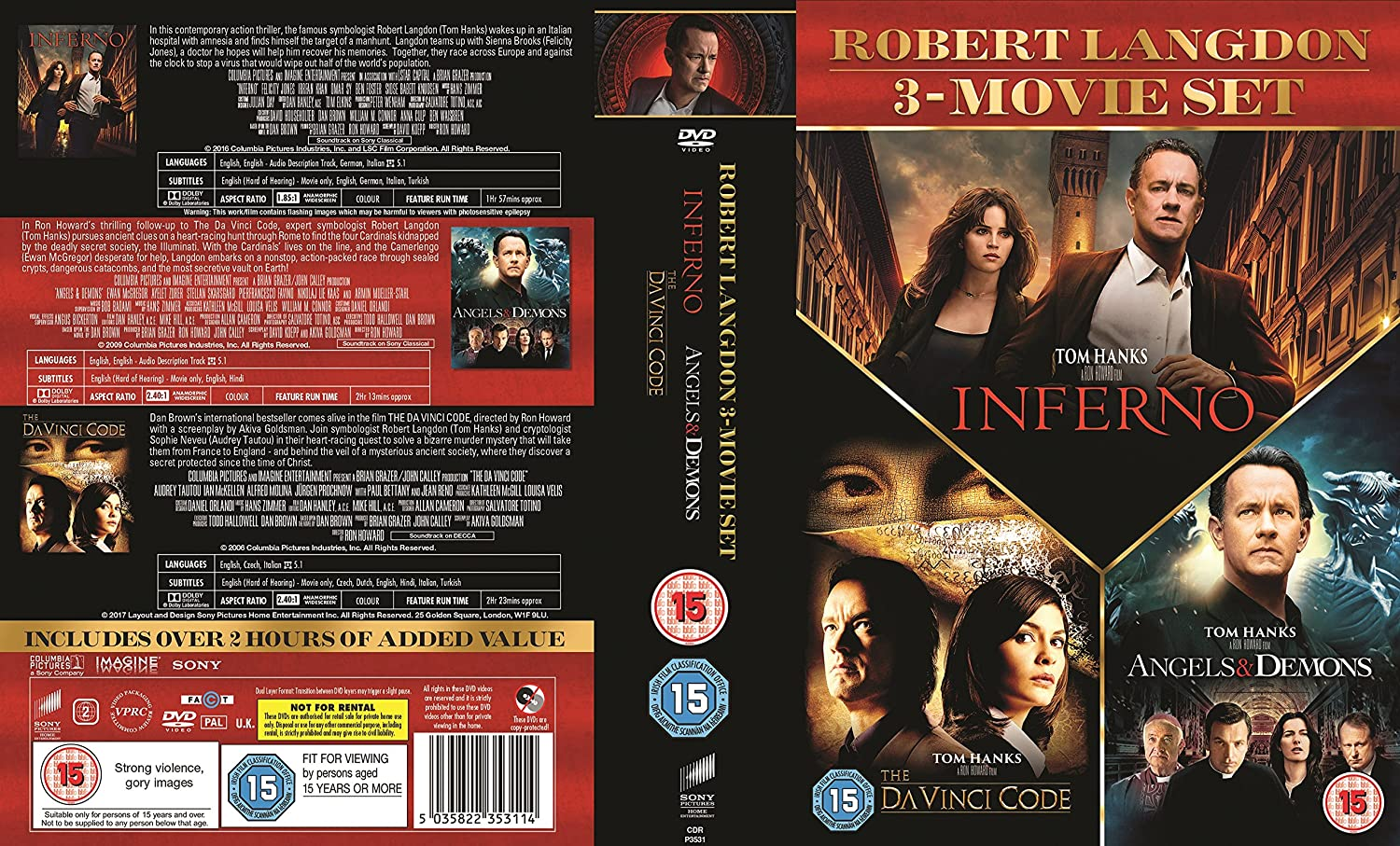 Amazonin Buy Inferno Angels Demons The Da Vinci Code Box Set DVD 2016 Blu Ray Online At Best Prices In India