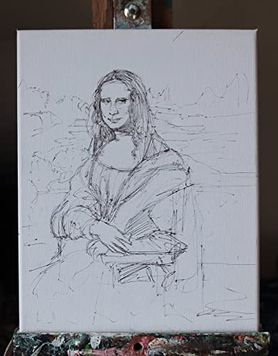 Mona Lisa - Studie von Gioconda auf Leinwand Abmessungen cm 24x30x1 ...