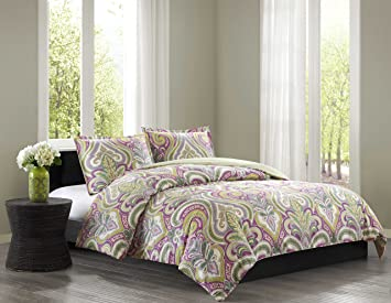 Amazoncom Echo Vineyard Paisley Duvet Cover Set Twin Multi Home