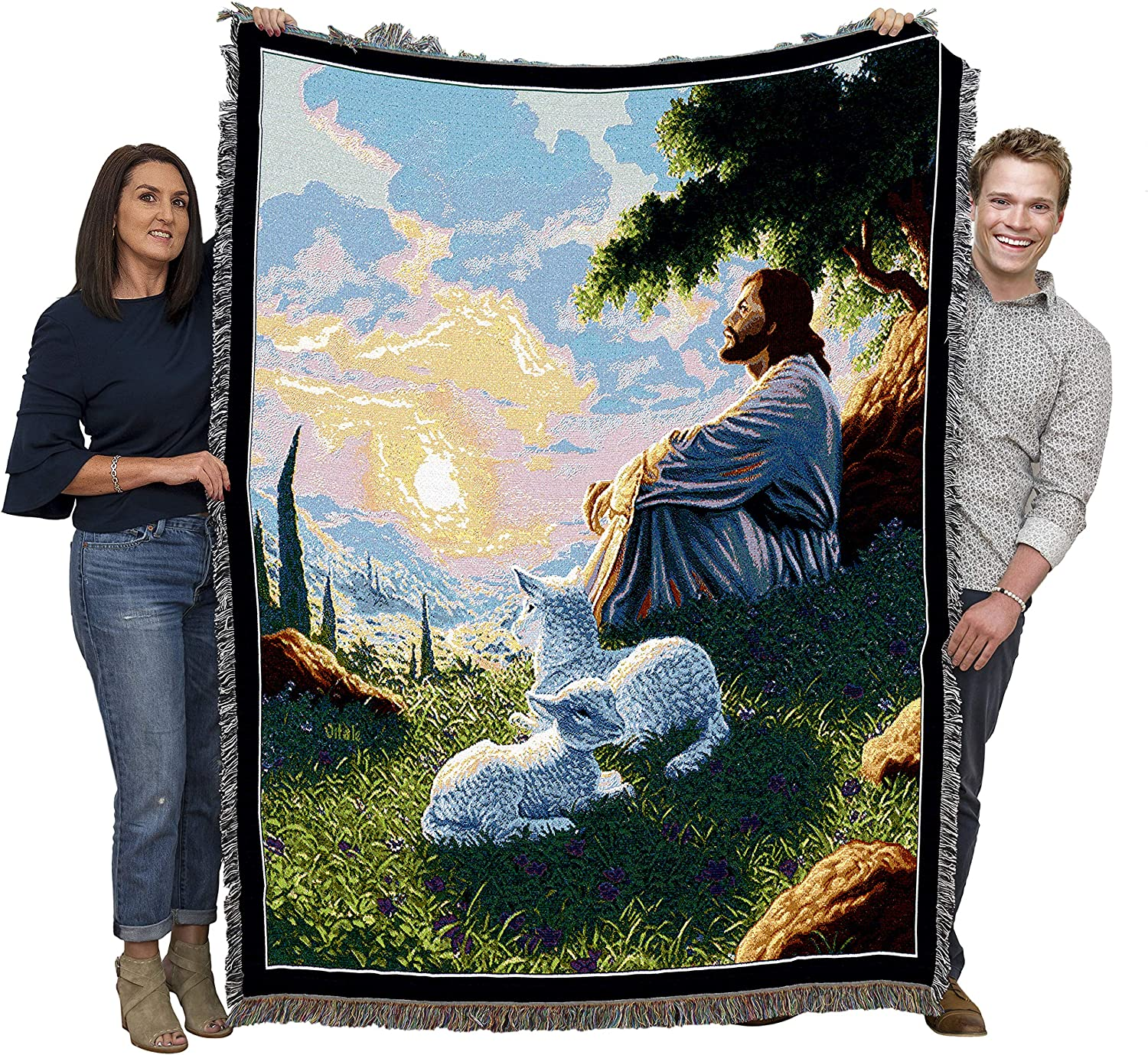Green Pastures by Raoul Vitale Blanket