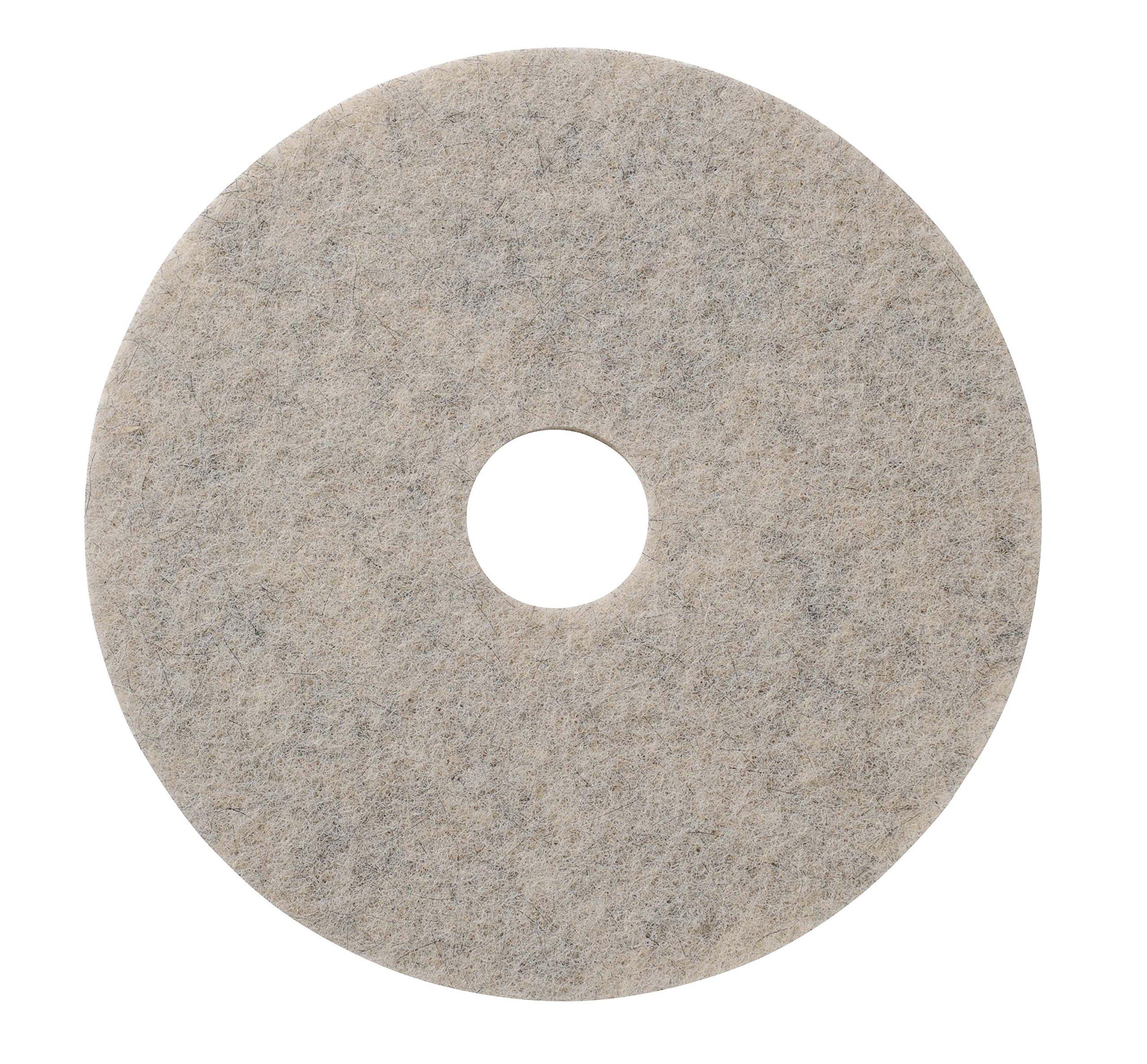 Glit/Microtron 402056 Jackaroo Lite Soft to Medium Finish Burnishing Pad, Natural Fiber, 27'', White/Black (Pack of 5) by Glit / Microtron