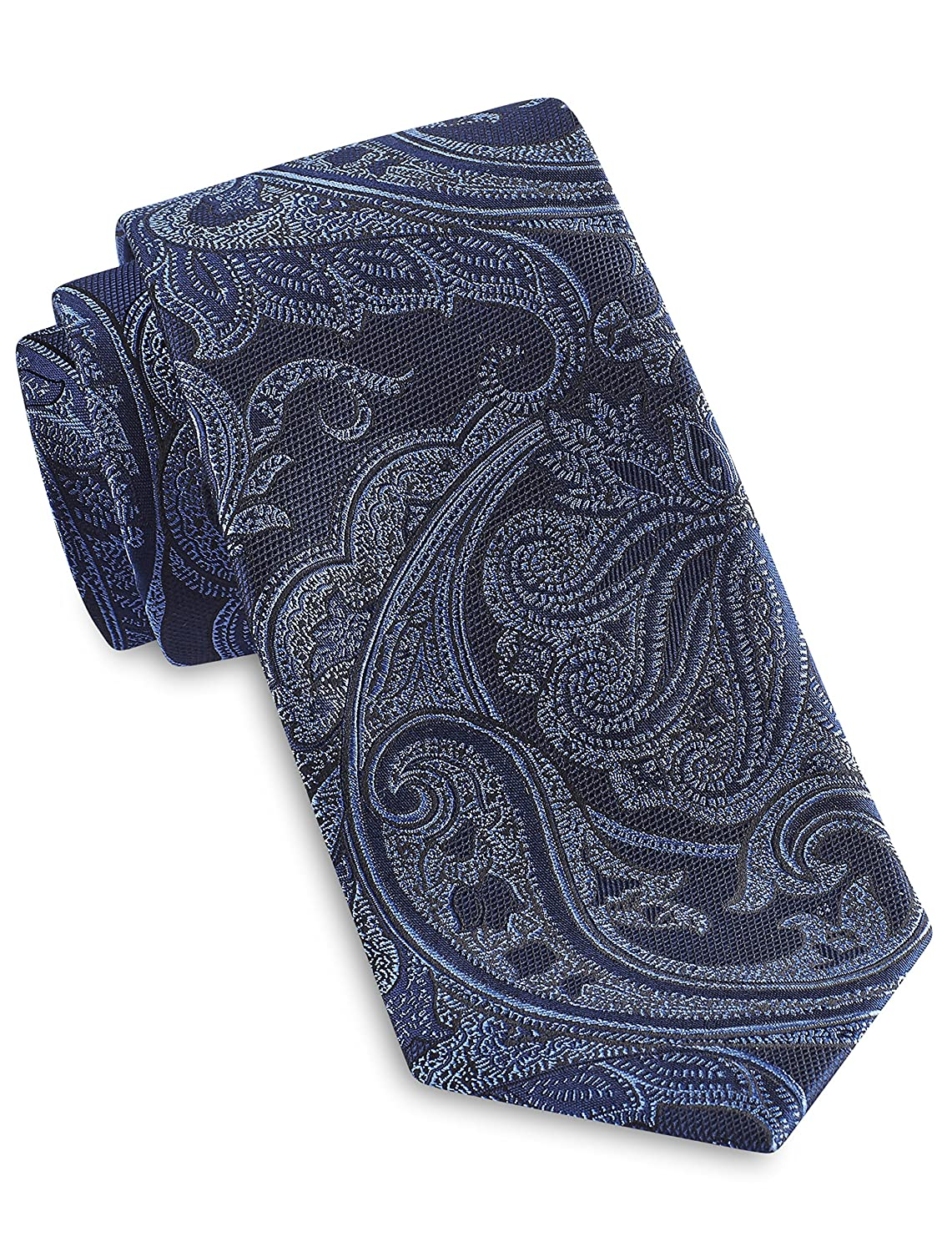 Rochester by DXL Big and Tall Designed in Italy Large Tonal Paisley Silk Tie