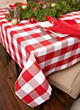 DII Buffalo Check Tabletop Collection, 60x104, Red