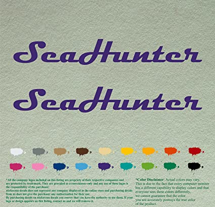 Amazon com: Pair of Seahunter Boats Decals Vinyl Stickers