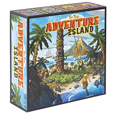 Tiki Toss Adventure Island Board Game: Toys & Games