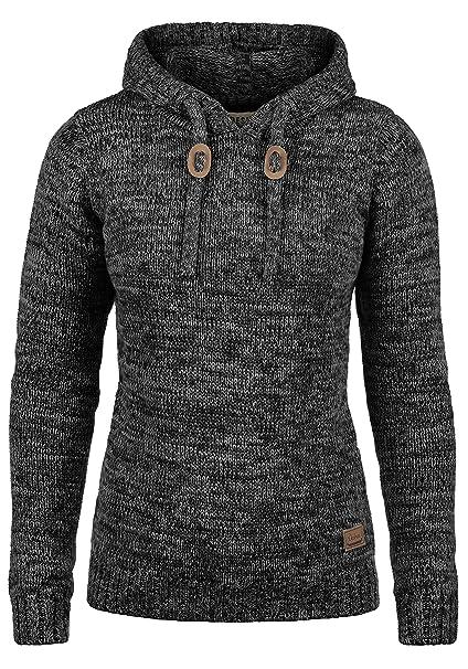 reputable site 5aa88 026e9 DESIRES Philla Damen Strickpullover Grobstrick Pullover Mit Kapuze Aus 100%  Baumwolle