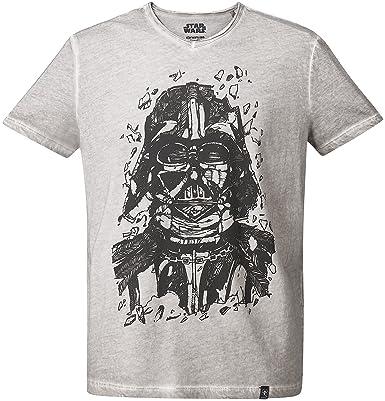 GOZOO Star Wars T-Shirt Herren Darth Vader Pencraft Oil Dye XS