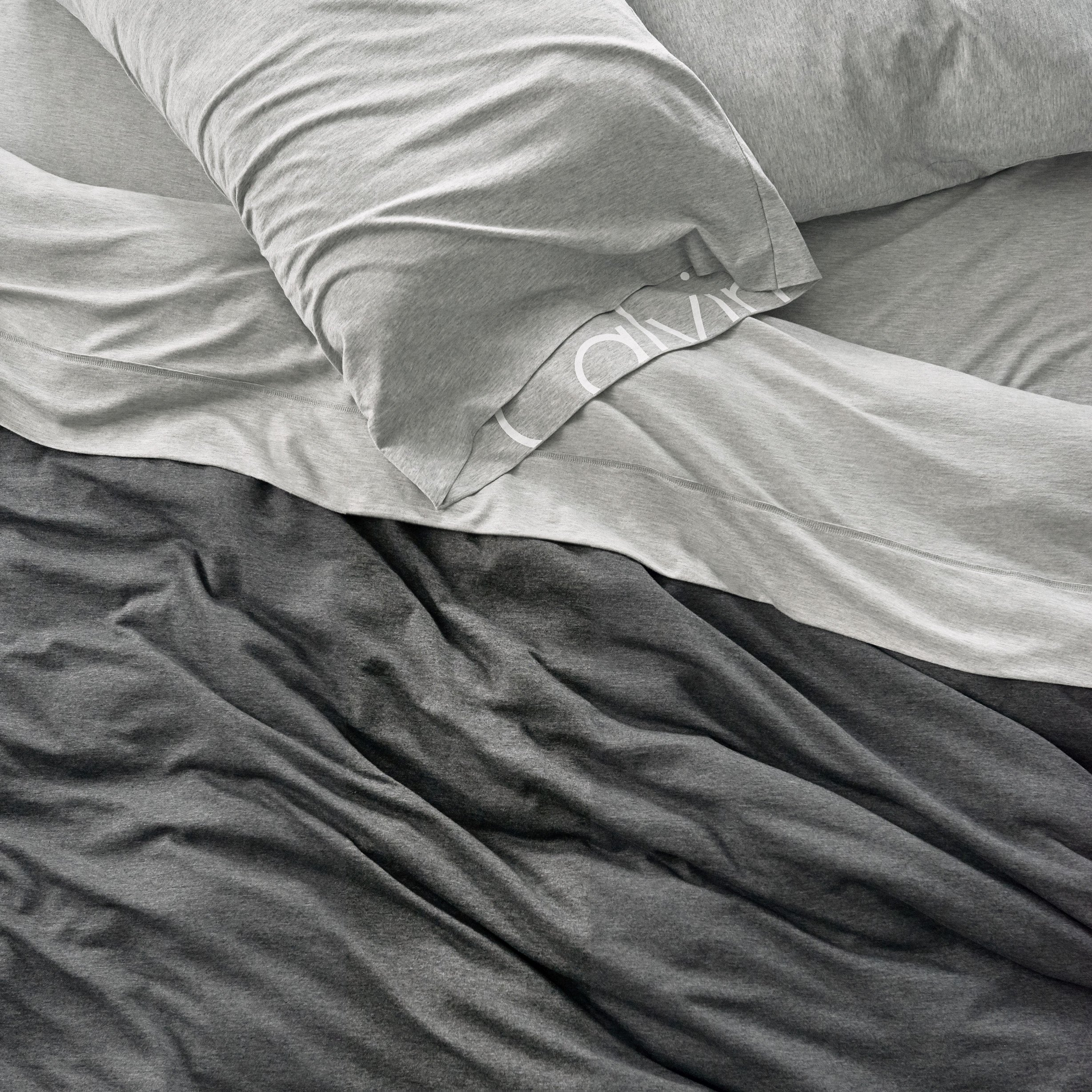 Calvin Klein Home Modern Cotton Body Duvet Cover, King, Charcoal by Calvin Klein (Image #5)