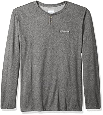ab0d35df373 Columbia Men's Thistletown Park Big & Tall Henley, Charcoal Heather,  X-Large Tall