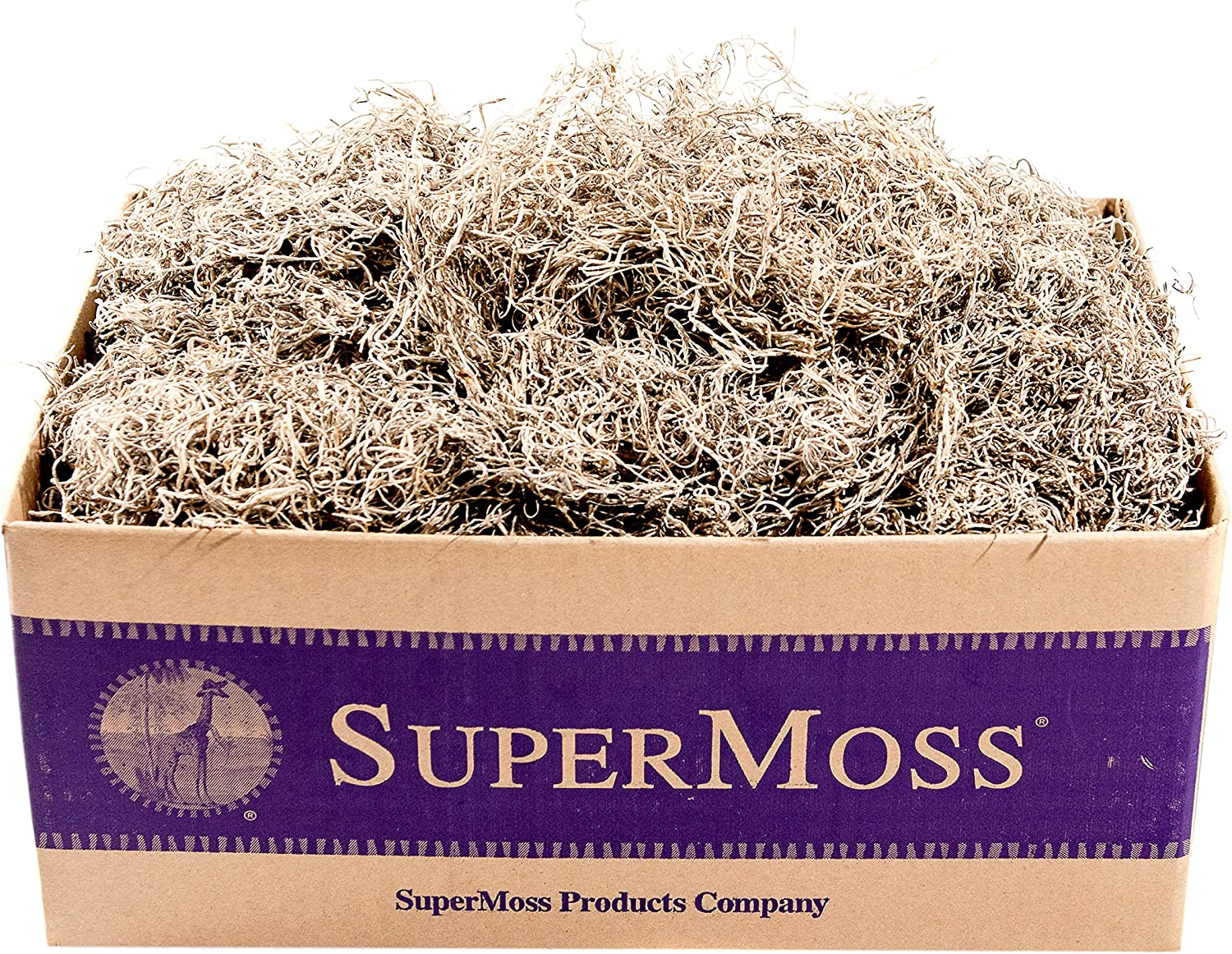 26968 SuperMoss 200 cubic inch Spanish Moss Preserved 8oz Chartreuse