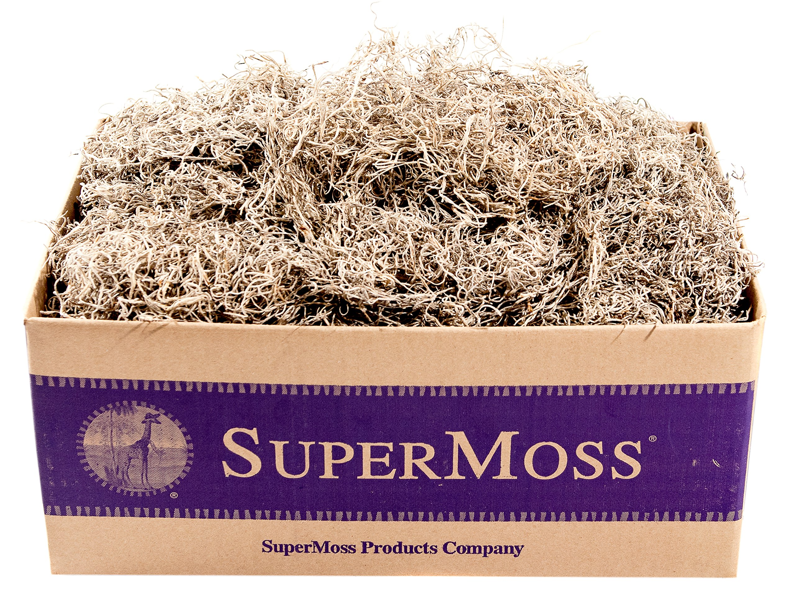 SuperMoss (26929) Spanish Moss Preserved, Natural, 3lbs