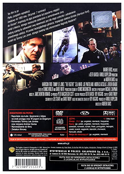 Fugitive DVD Region 2 English audio  English subtitles