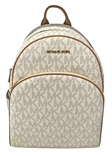 52061f9ea6bc ... hot michael michael kors abbey jet set large leather backpack vanilla  9de63 d3b11