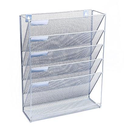 Wall Hanging File Folders Inspiration Amazon Wall Hanging File Organizer Premium Metal Storage File