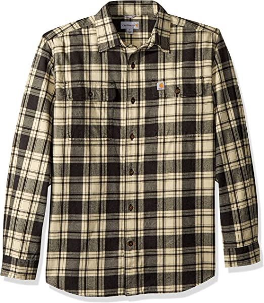 X-Future Mens Long Sleeve Plaid Print Loose Fit Cotton Big /& Tall Plus Size Checkered Shirt