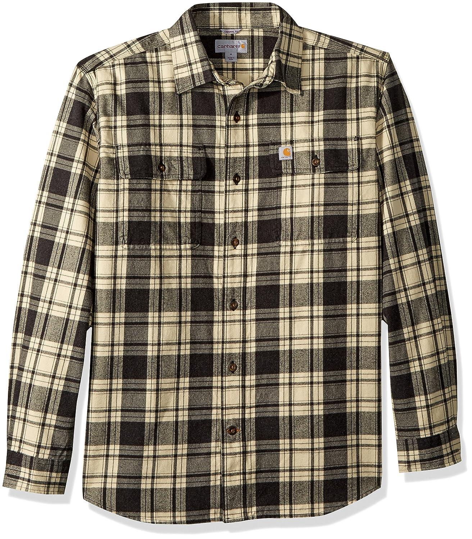 8efba464e9430b Carhartt Men's Hubbard Plaid Flannel Shirt at Amazon Men's Clothing store:
