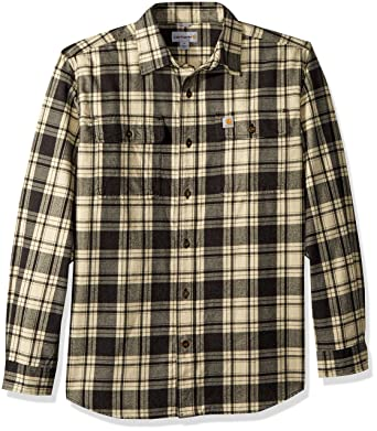 Carhartt Men S Hubbard Plaid Flannel Shirt At Amazon Men S Clothing