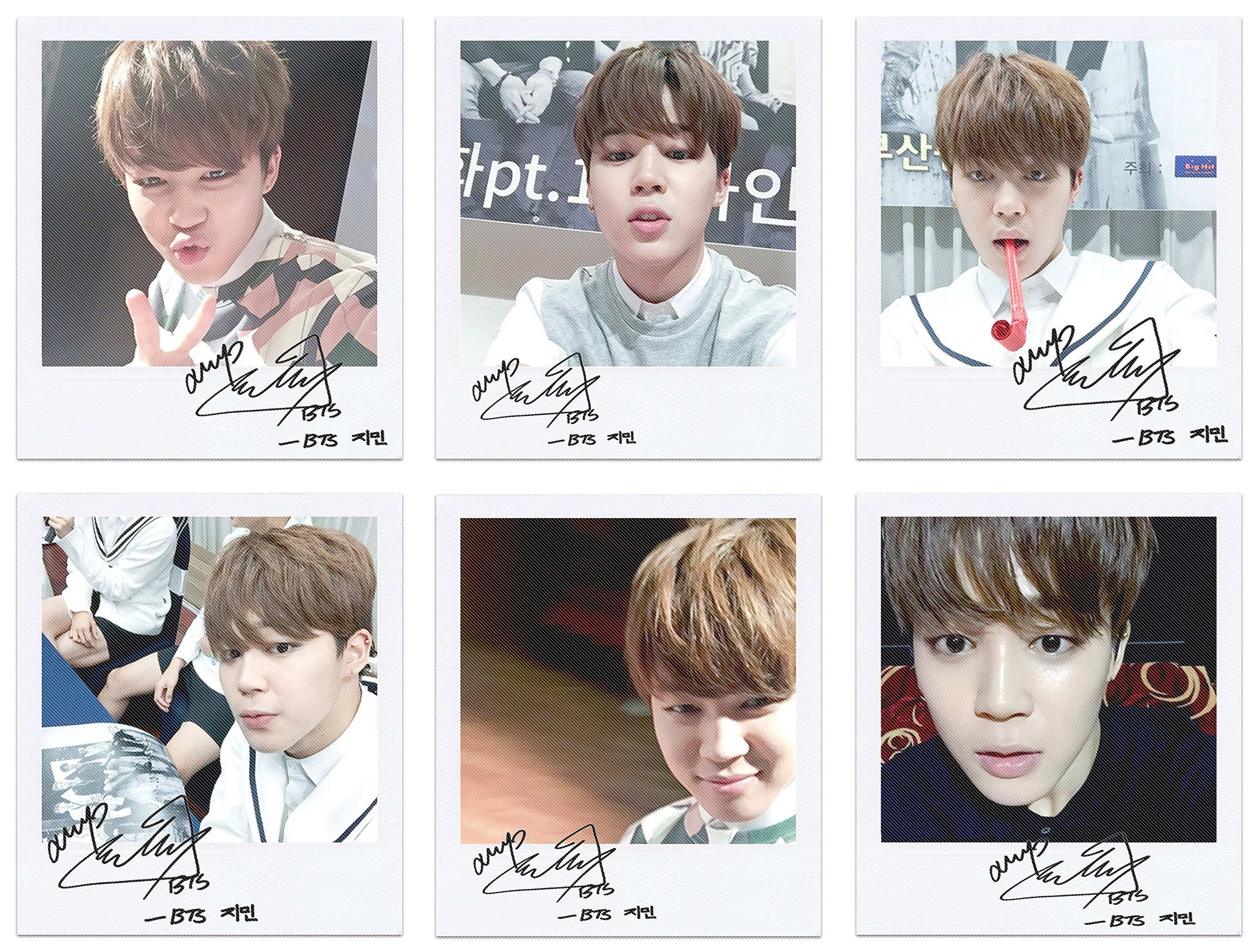 BTS bangtan boys fancafe jimin self wide polaroid photo set