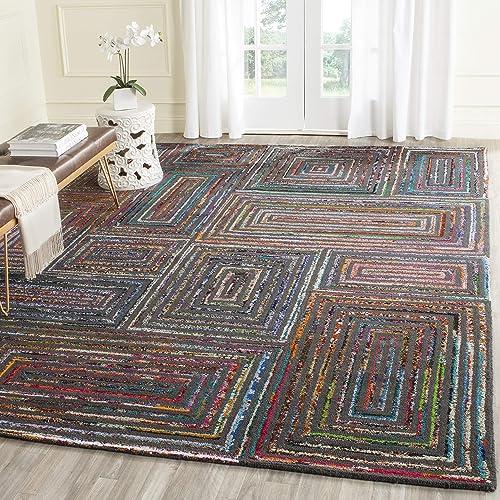 Editors' Choice: Safavieh Nantucket Collection NAN609A Handmade Boho Abstract Cotton Wool Area Rug