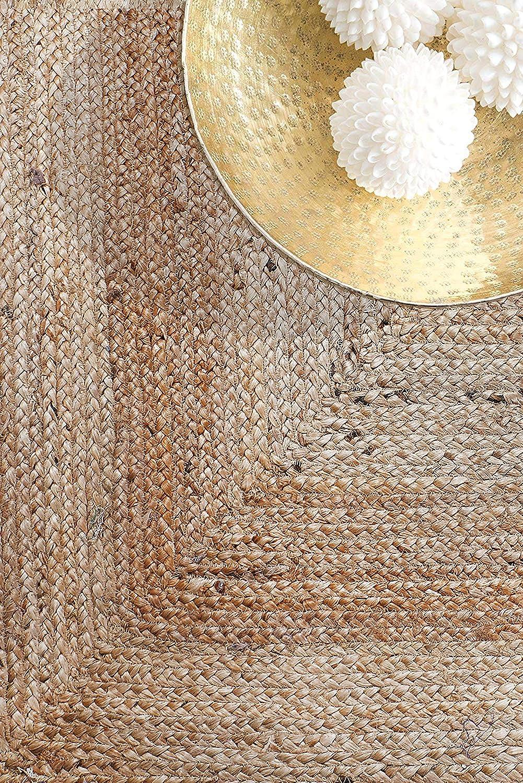 153 x 92 cm 100/% Bio Friendly Fibres Naturelles Tress/ées Reversiable Area Jute Rug for Decoretive Home RAJRANG BRINGING RAJASTHAN TO YOU Tapis en Jute Rectangle