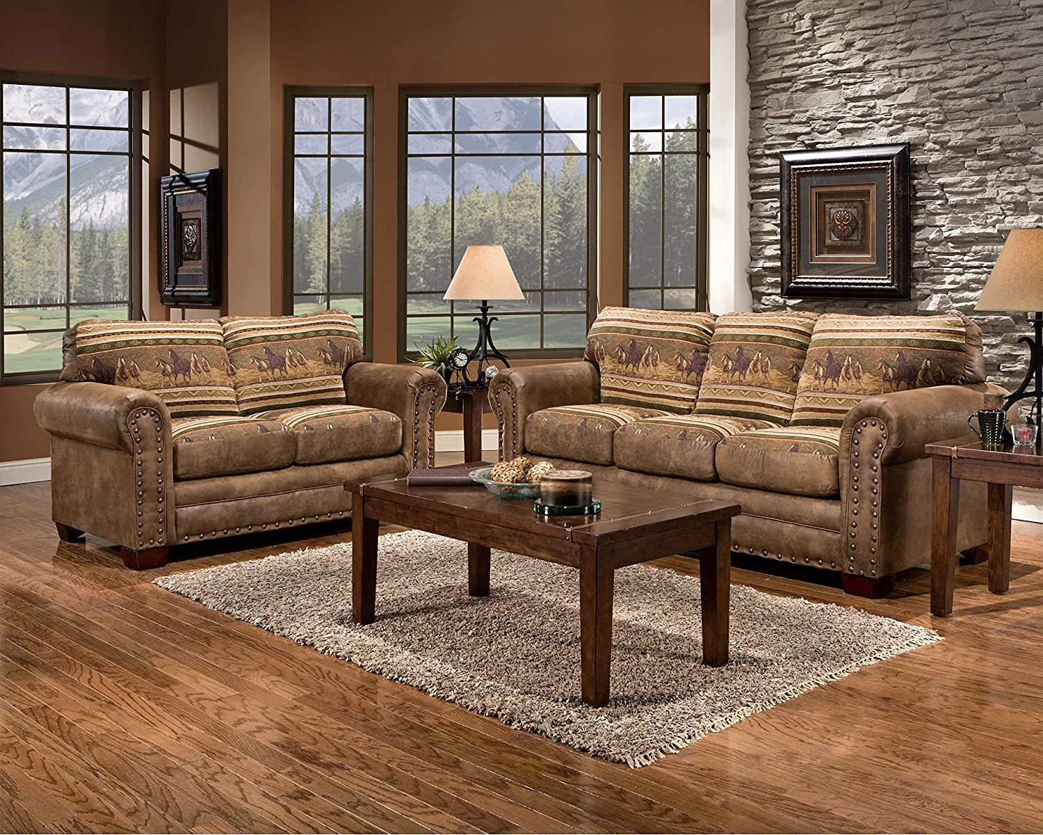 Nice Amazon.com: American Furniture Classics Wild Horses Sofa: Kitchen U0026 Dining