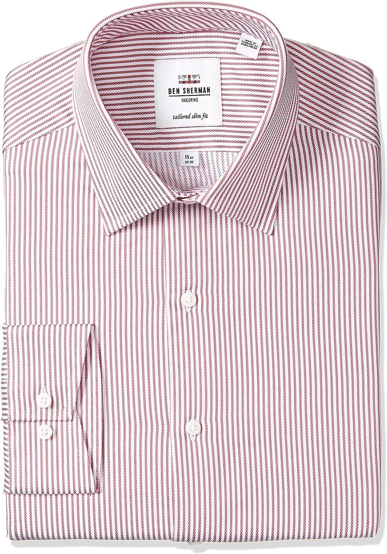 Ben Sherman Hombre 33HBS1827-606 Manga Larga Camisa de botones - Rosa - 46 cm Cuello 86 cm/ 89 cm Manga: Amazon.es: Ropa y accesorios