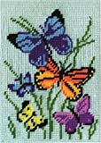 "Design Works ""Papillons Galore 12-Count Interlock Toile Imprimé, multicolore"