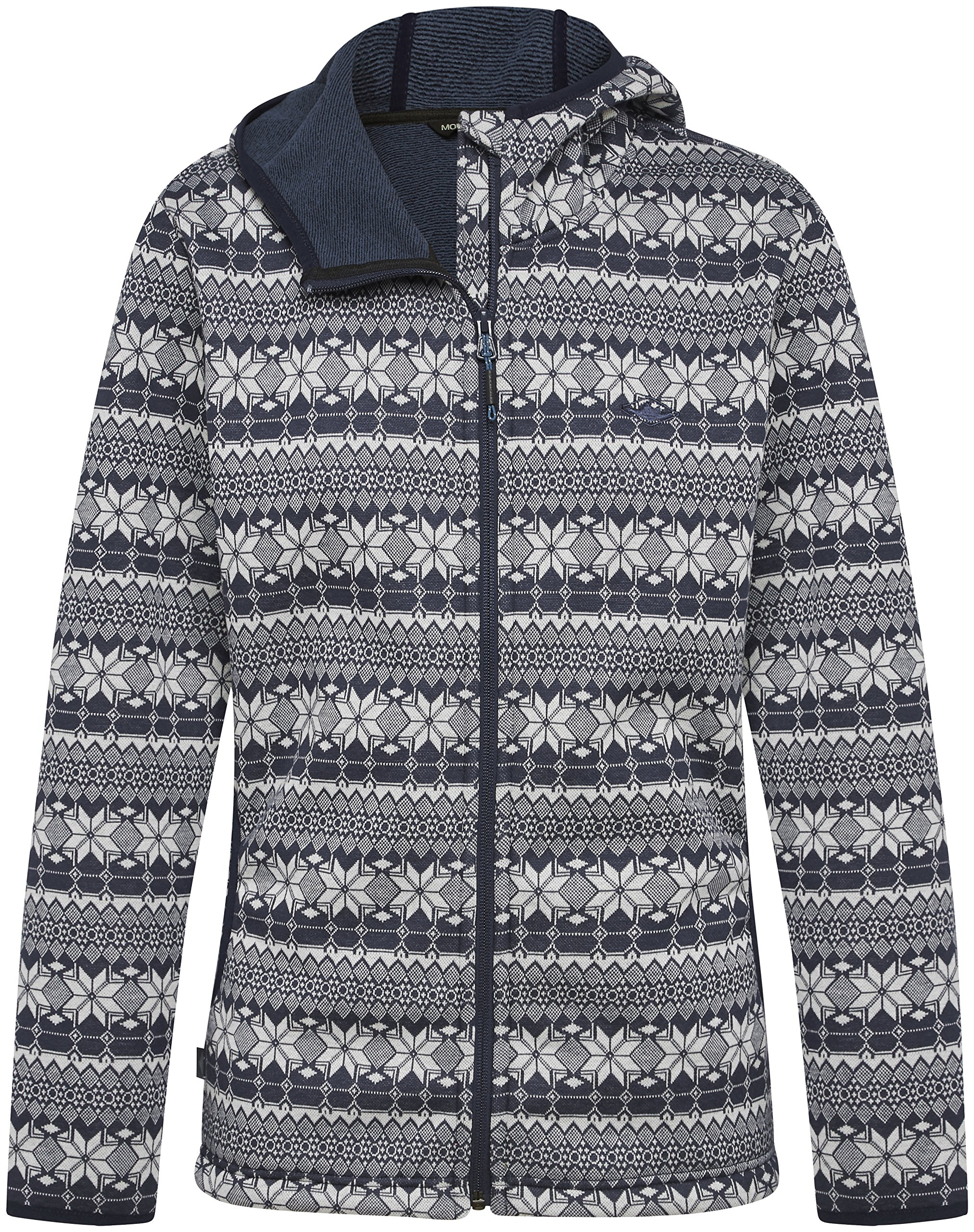 Mountain Designs Women's Nola Midweight Fleece Jacket, Peacoat/Snow White, 12