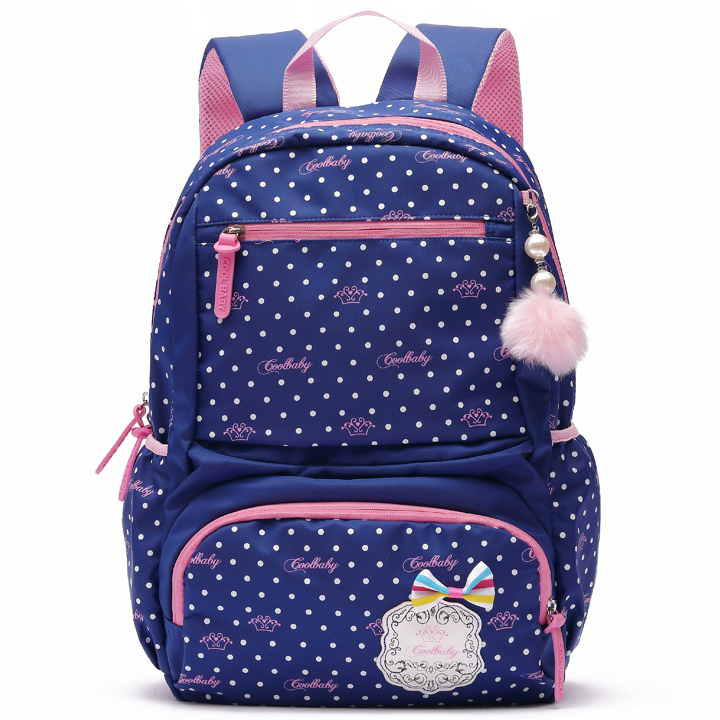 Ali Victory Waterproof Cute Backpack for Girls Large Kids Bookbag (Small, Navy Blue)