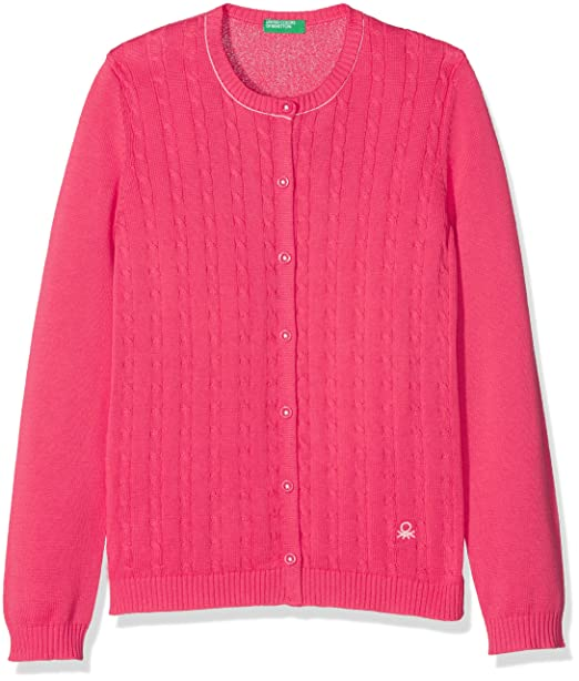 United Colors of Benetton L/s Sweater, suéter para Niñas, Rosa (Geranium