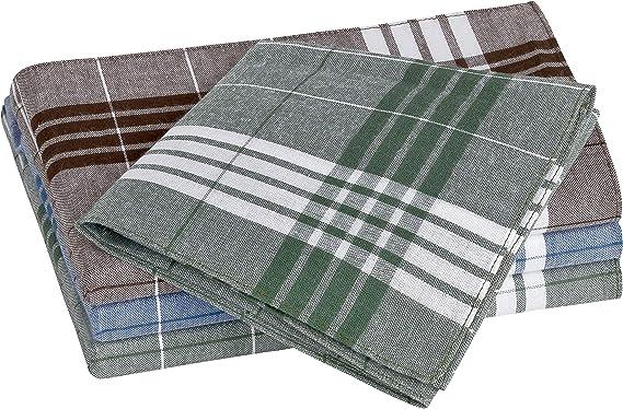 Tobeni 12 Hombre Pañuelos de Tela para Trabajo Arabias 100% Algodón Azul Marrón Verde 40 x 40 cm: Amazon.es: Ropa y accesorios