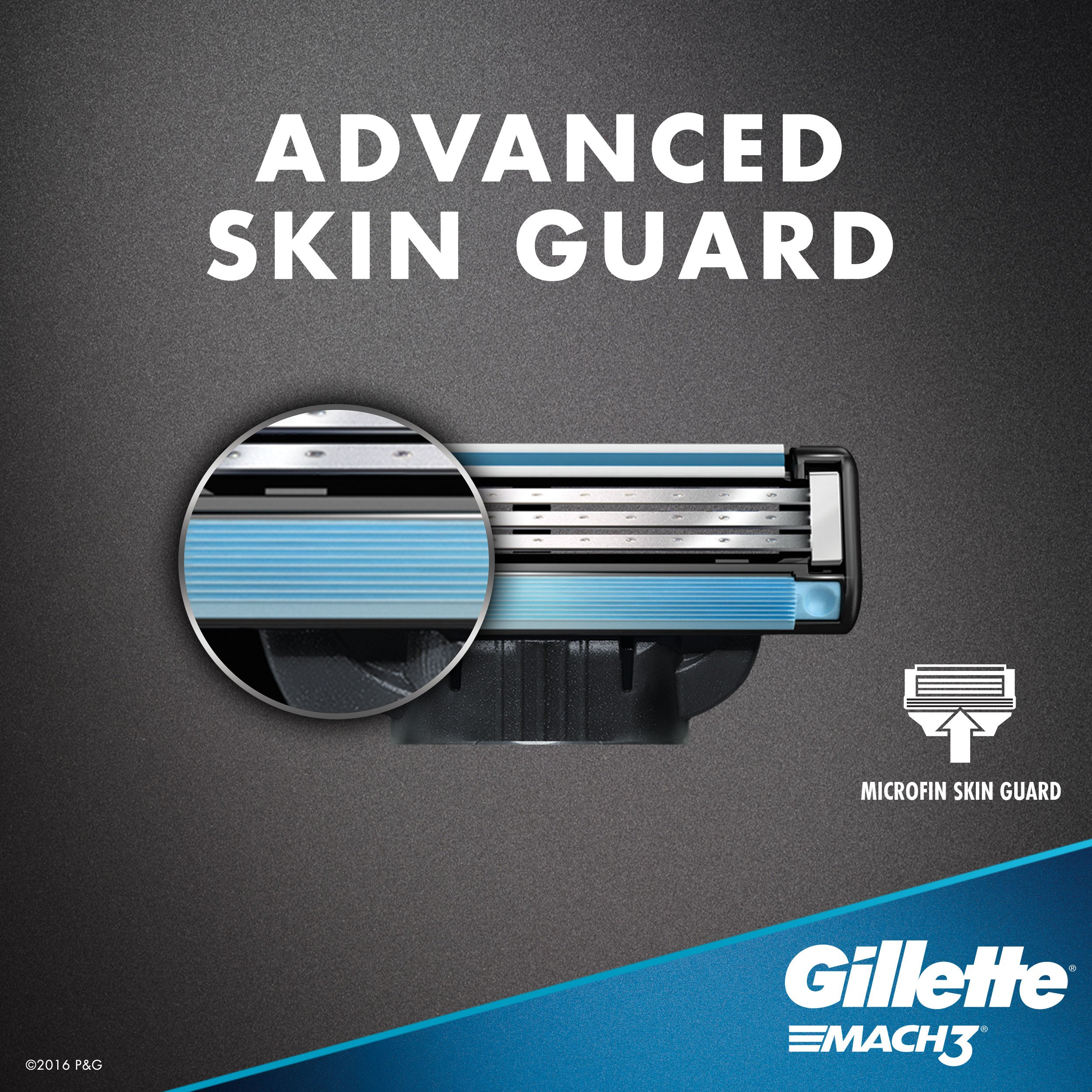 Gillette Mach3 Men's Razor Blades, 8 Blade Refills (Packaging May Vary) by Gillette (Image #6)