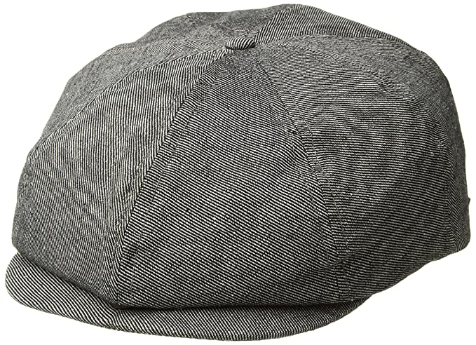 Brixton Men s Brood Newsboy Snap Hat Black  Amazon.ca  Clothing ... 65082d543f10