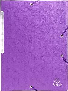 Exacompta 55757E - Pack de 10 carpetas con goma, A4, color morado ...