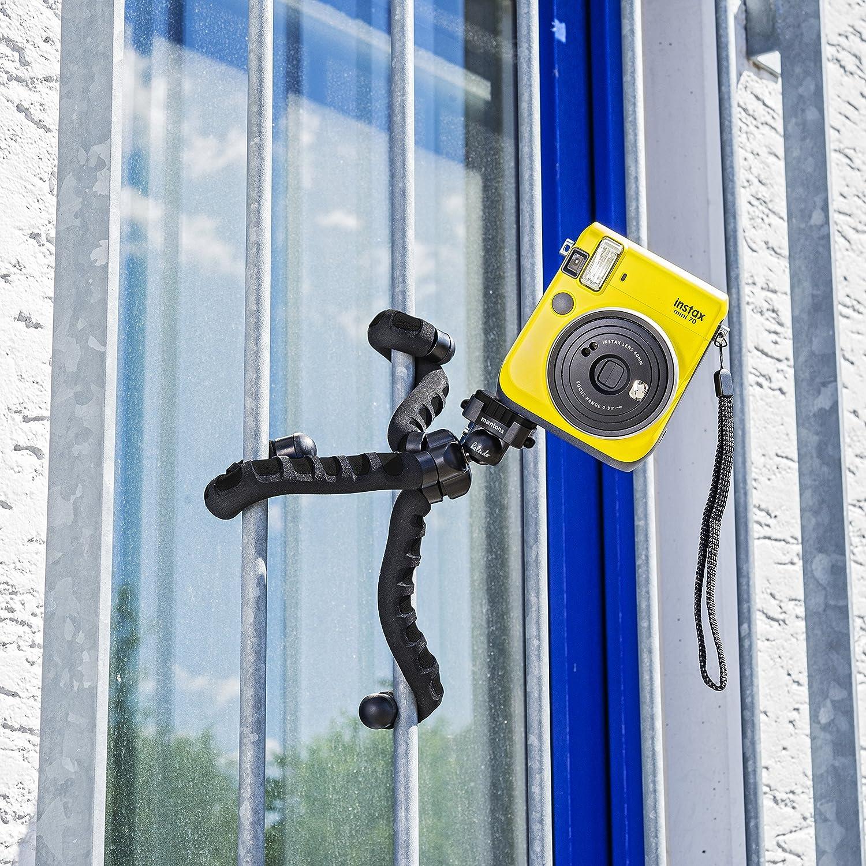 ocean blue mit hochwertigem 360/° Kugelkopf, geeignet f/ür Digital und Videokameras, Smartphones und Action Cams Mantona kaleido Flex leichtes Flex Stativ