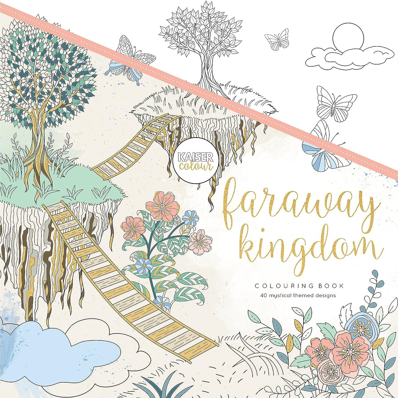 "1925405338 Kaisercraft Faraway Kingdom KaiserColour Perfect Bound Coloring Book, 9.75"" x 9.75"" A1i2ypgUTFL"