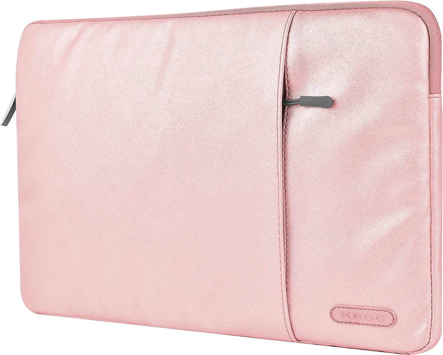 """KECC 15-15.6"""" Sleeve for MacBook Pro 15"""" A1990/A1707/A1398/A1286 Laptop Protective Case Canvas Bag with Pocket for Chromebook, Acer Notebook (Champane Glitter)"""