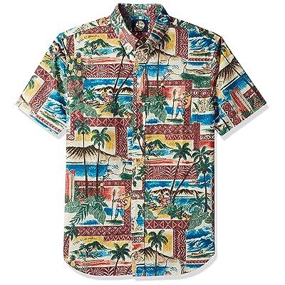 Reyn Spooner Men's Christmas Weekend Wash Tailored Fit Shirt at Men's Clothing store
