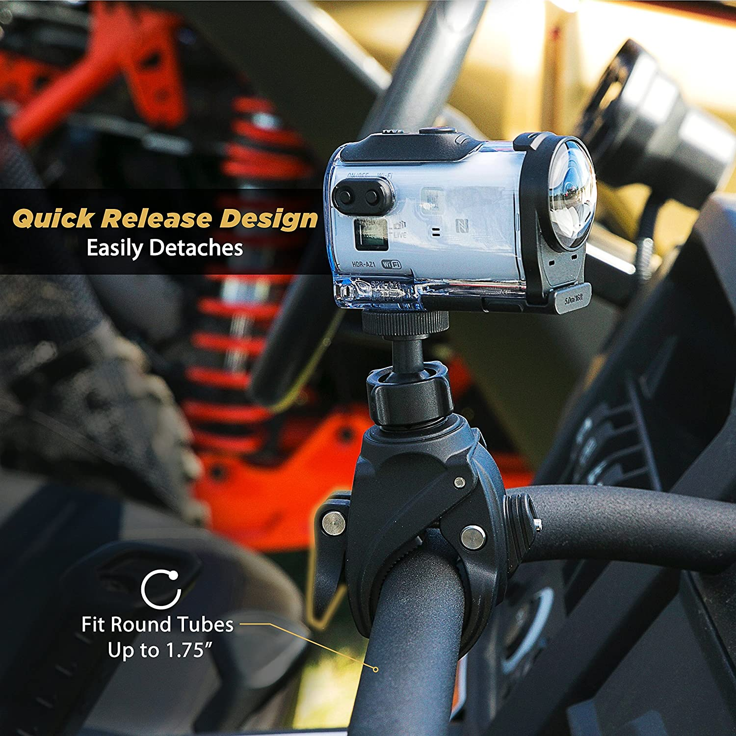 Protective Safety Bands and Adjustable Clamp for Mobile Devices SCOSCHE MBM3SM-RP Handlebar Bike Phone Mount with Integrated MagicMount